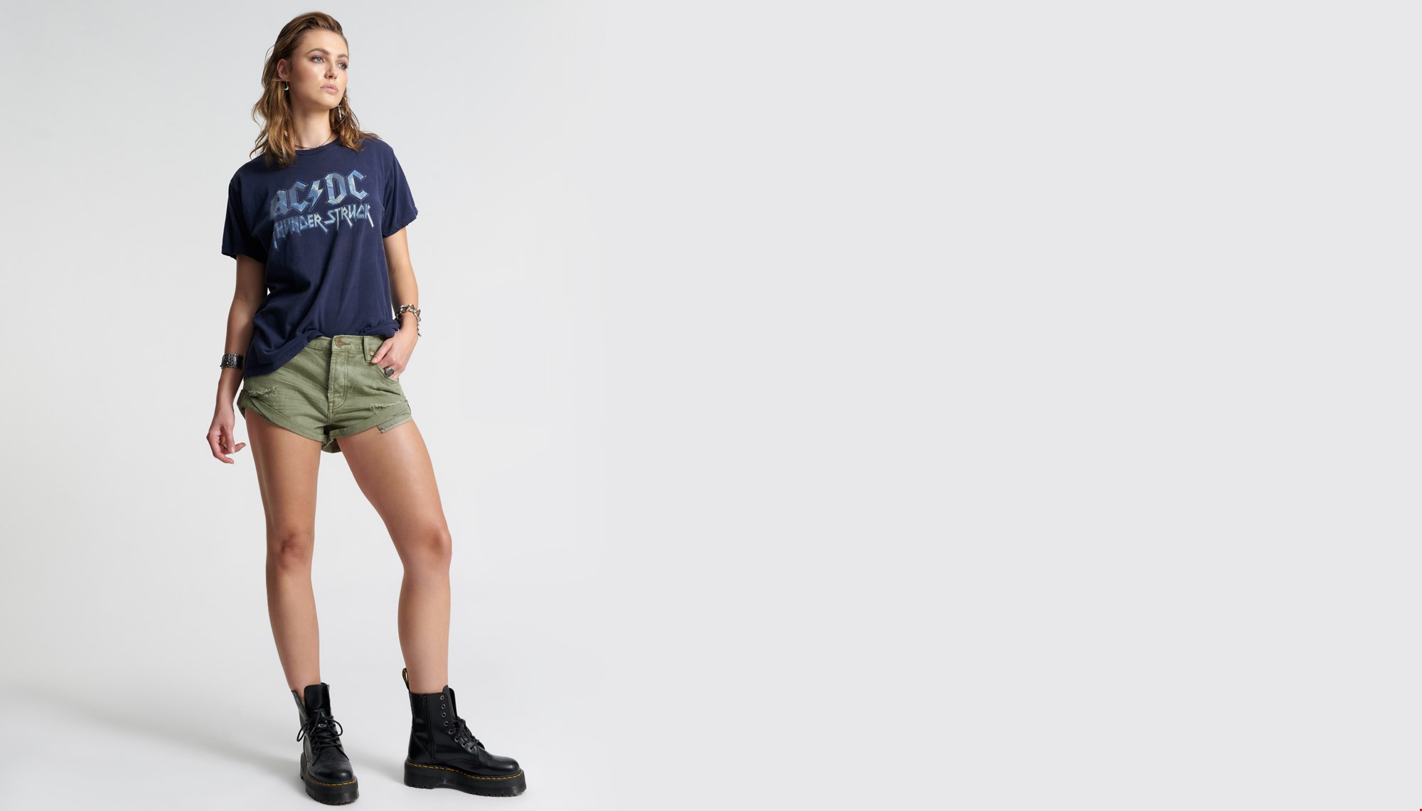 SUPER KHAKI BANDITS DENIM SHORT
