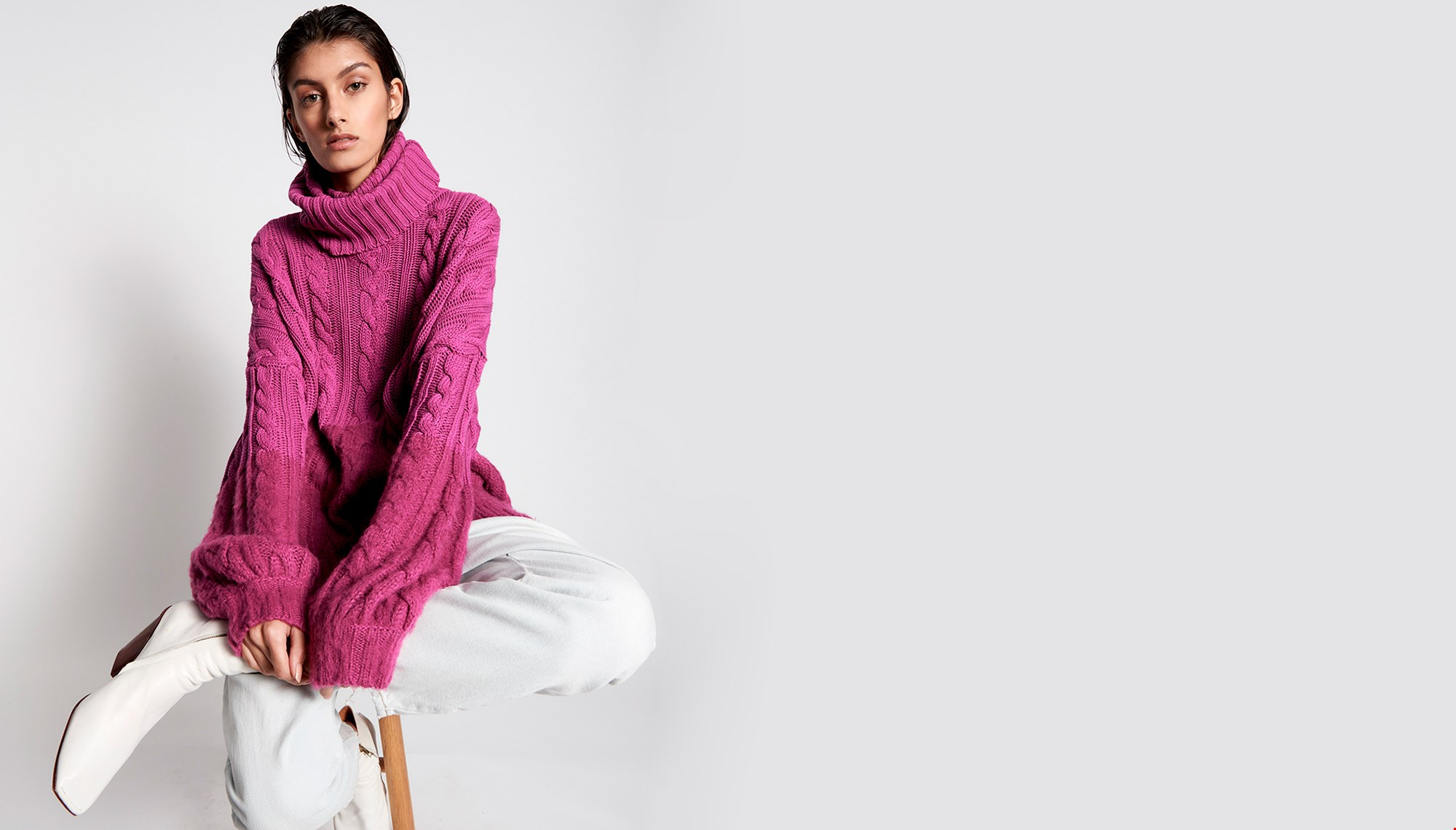 BUCKINGHAM IN AND OUT COTTON MIX SWEATER
