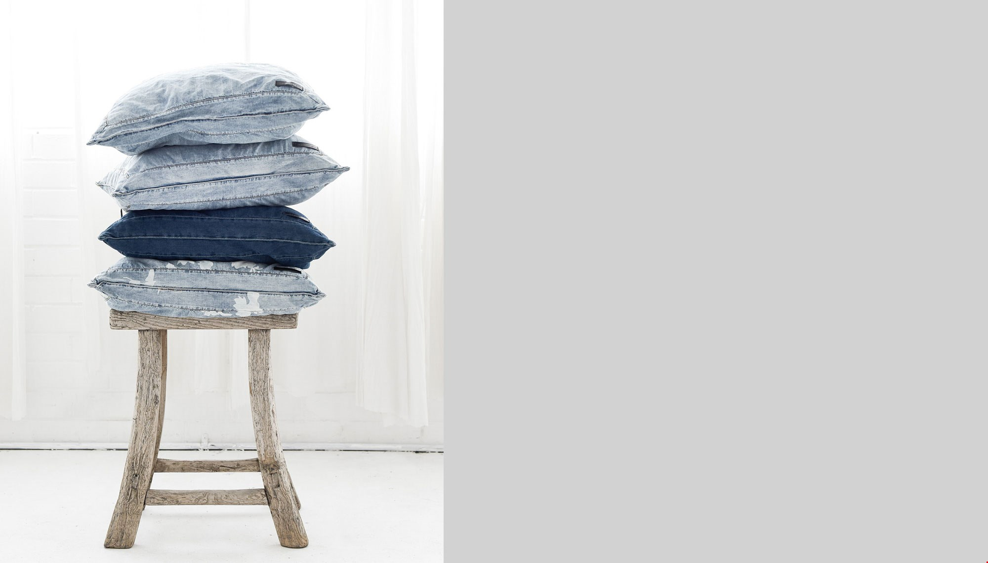 BLUE JACK CHAMBRAY EUROPEAN CUSHION COVER