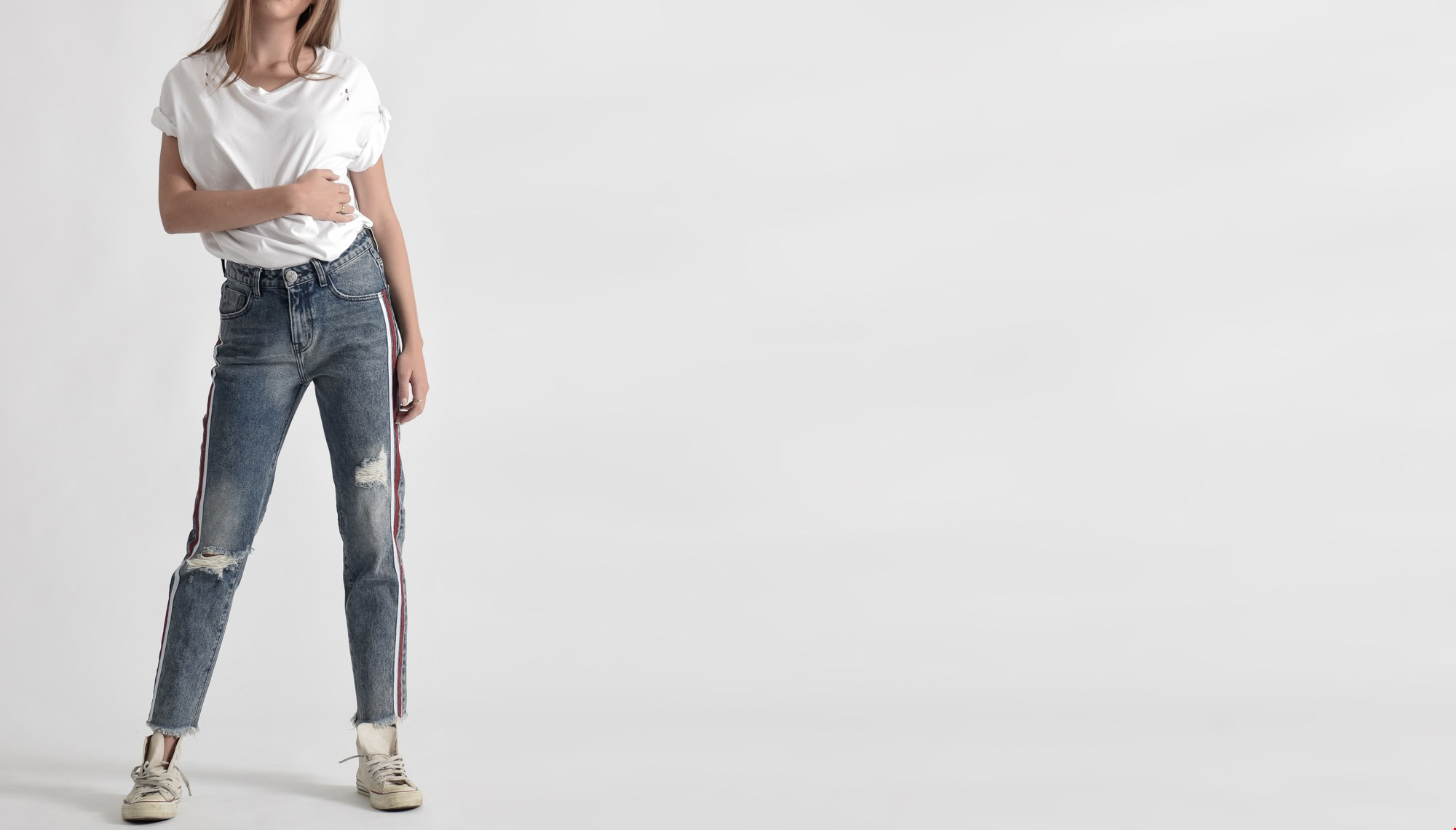 BLUE SOCIETY AWESOME BAGGIES HIGH WAIST STRAIGHT LEG JEAN