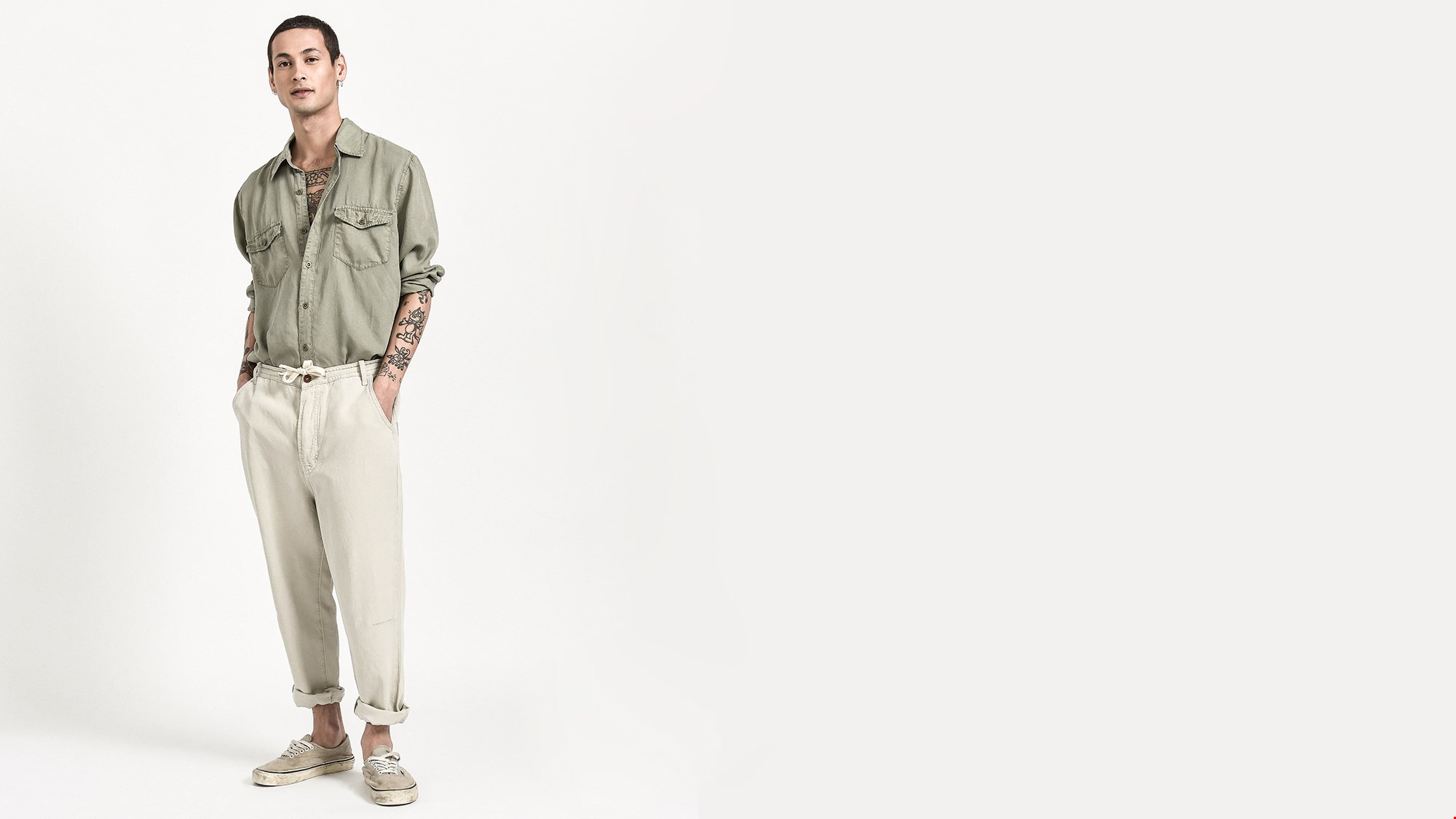 SAFARI RELAXED LINEN RELAXED CHINO PANT