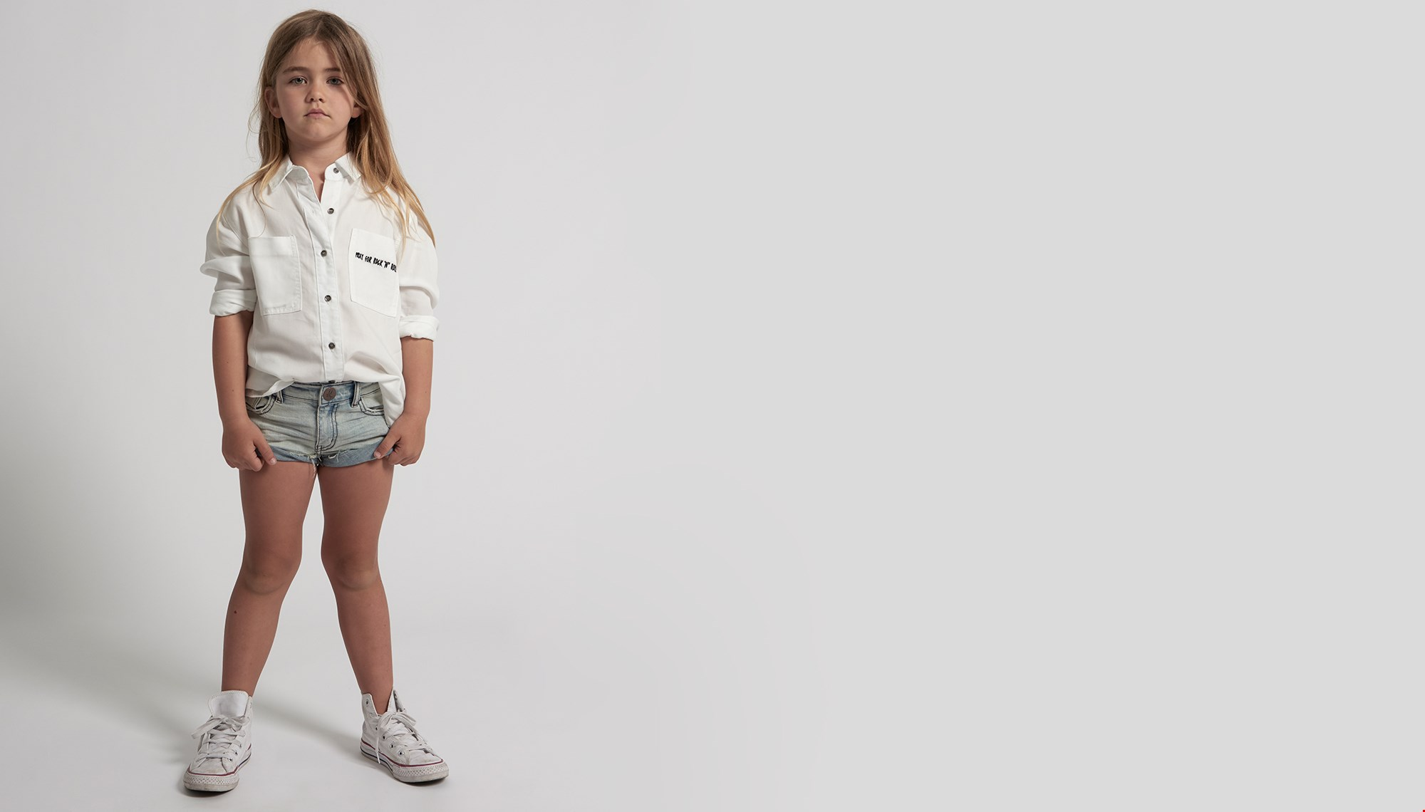 KIDS MID WEST BANDITS DENIM SHORT