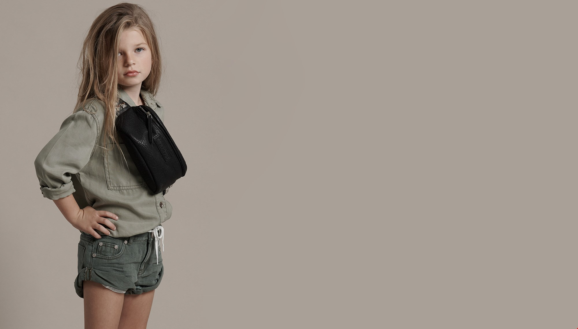 KIDS VINTAGE KHAKI BANDIT DENIM SHORT