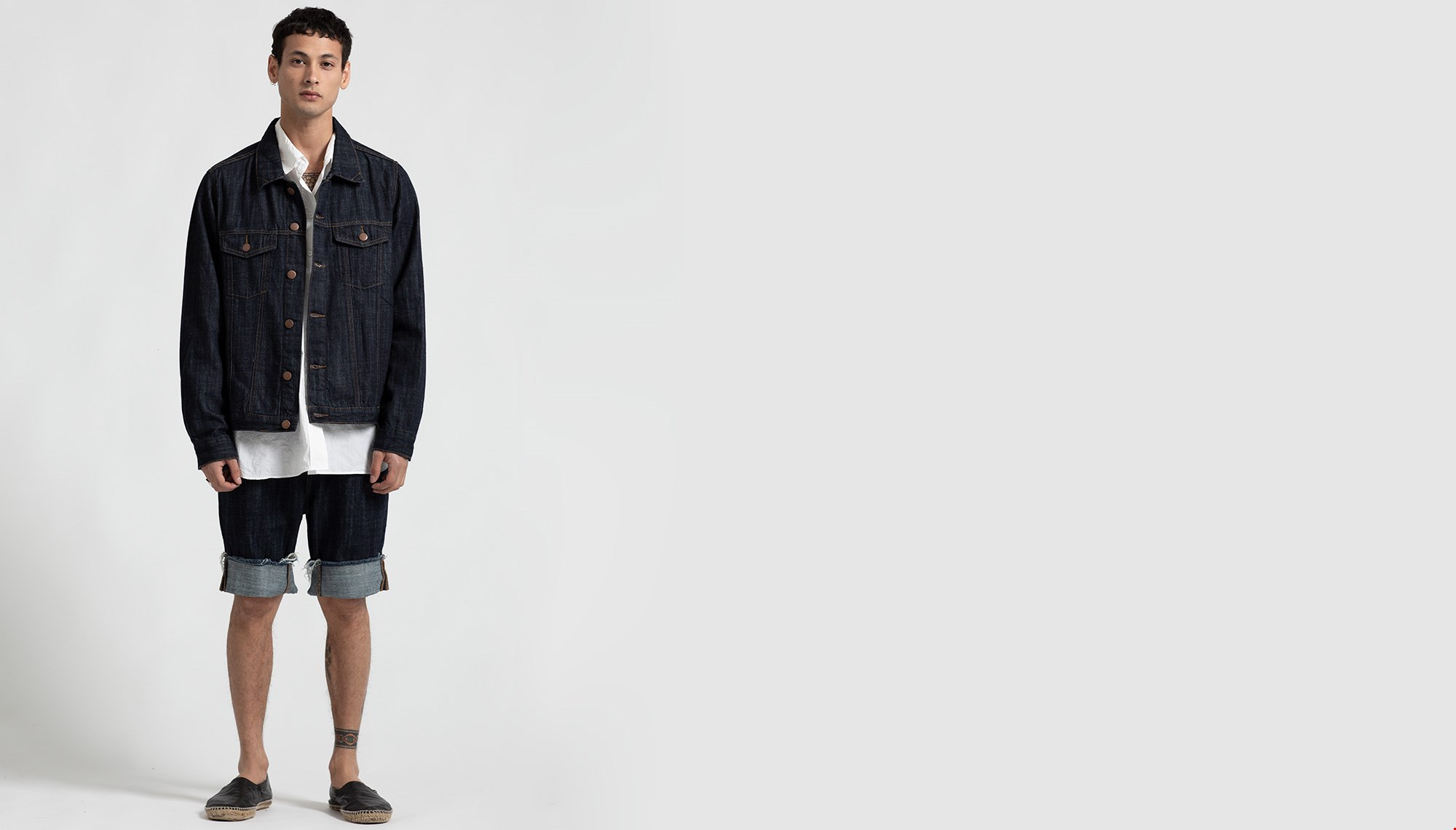 RAW INDIGO BANDIT DENIM SHORT