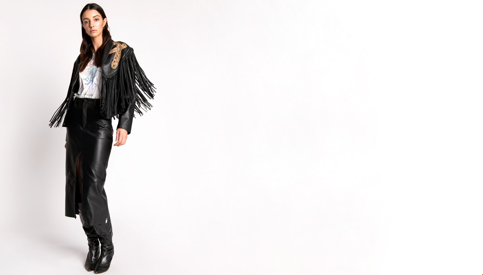 LOLA FRINGED LEATHER JACKET